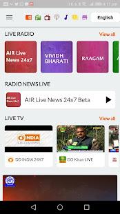 NewsOnAir: Prasar Bharati Official App News+Live 30 Screenshots 2