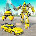 Car Robot War Transform Taxi Robot Shooting Games