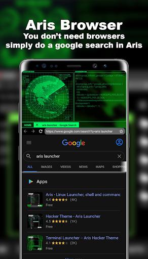 Hacker Launcher -- Aris Theme 4.2.4 Screenshots 5
