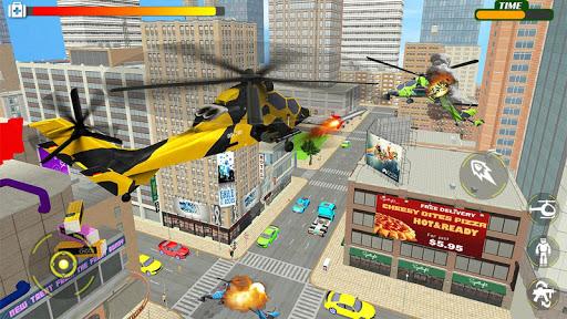 Helicopter Robot Transform War u2013 Air robot games  screenshots 16