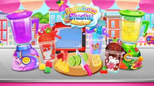 Rainbow Frozen Slushy Truck: Ice Candy Slush Maker  screenshots 9