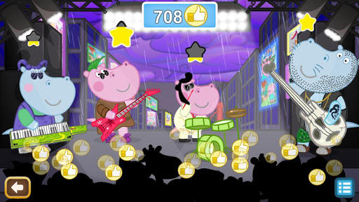 Kids music party: Hippo Super star screenshots 15