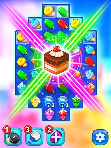 Ice Cream Paradise - Match 3 Puzzle Adventure Apkfinish screenshots 18