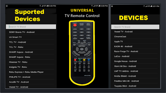Universal Free TV Remote Control For Any LCD Screenshot
