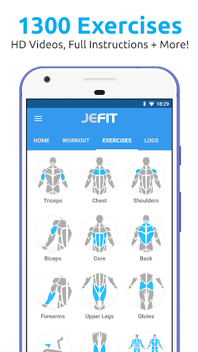 JEFIT Workout Tracker, Weight Lifting, Gym Log App screenshots 1