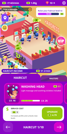 Idle Beauty Salon: Hair and nails parlor simulator apktreat screenshots 1