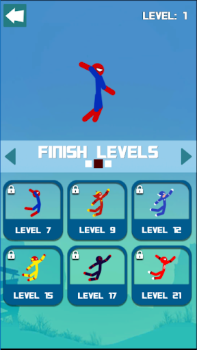Super Hero Hook: Stickman Rope Swing 1.0.6 screenshots 1
