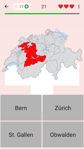 Swiss Cantons - Quiz about Switzerland's Geography 3.1.0 screenshots 1