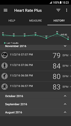 Heart Rate Plus - Pulse & Heart Rate Monitor 2.5.9 Screenshots 3