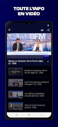 BFMTV - Actualitu00e9s France et monde & alertes info 7.2.0 Screenshots 7