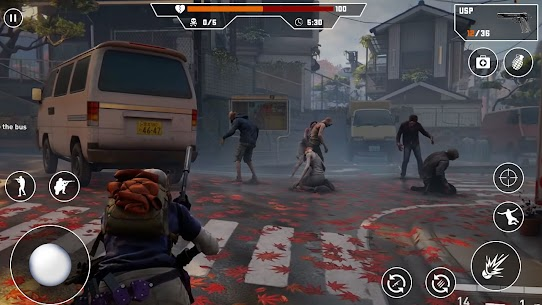 Zombies Fire Strike Mod Apk (God Mode/Dumb Enemy) 2