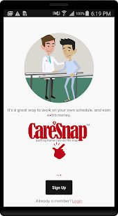 CareSnap™ Caregiver Screenshot