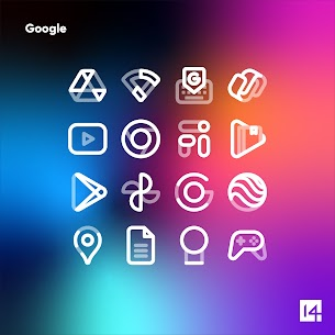 Aline White icon pack Apk- linear white icons (Paid) 6