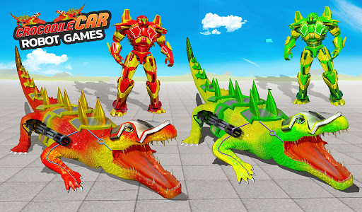 Crocodile Robot Car Transforming Mega Robot Games apkdebit screenshots 12