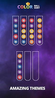 カラーボールソート - パズルゲームの並べ替えのおすすめ画像3