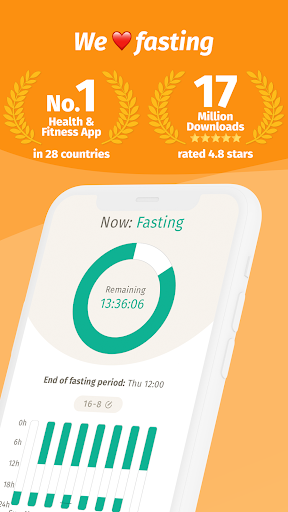 BodyFast Intermittent Fasting Tracker - Diet Coach 3.4.21 Screenshots 1