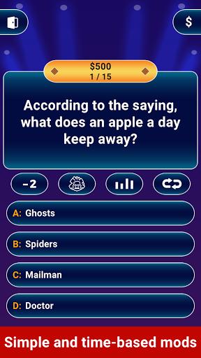Millionaire 2021 -  Free Trivia Quiz Offline Game  screenshots 2