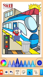 Train game: coloring book for kids 4