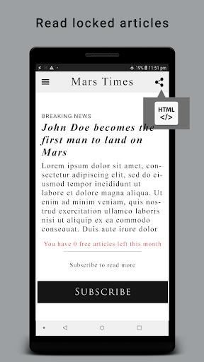 HTML Reader/ Viewer android2mod screenshots 5