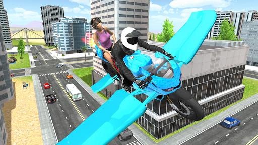 Flying Motorbike Simulator android2mod screenshots 8