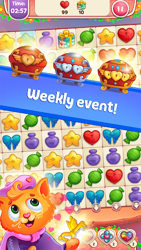 Sweet Hearts - Cute Candy Match 3 Puzzle  screenshots 5
