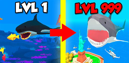 Idle Shark World: Hungry Monster Evolution Game 2.8 screenshots 1