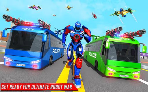 Flying Bus Robot Transform War- Police Robot Games 1.15 screenshots 4