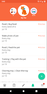 Animal and pet care diary Screenshot