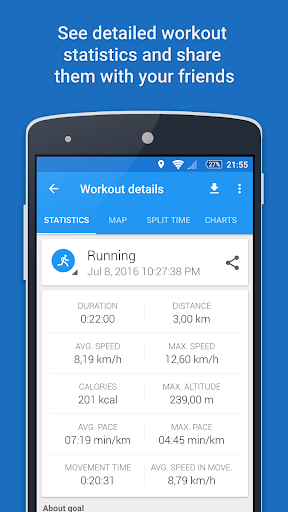 GPS Sports Tracker App: running, walking, cycling 2.9.3 Screenshots 5