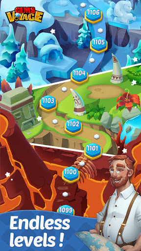 Gems Voyage - Match 3 & Jewel Blast apkdebit screenshots 2