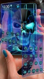 Neon Tech Evil Skull 3D Theme 1.1.20 MOD for Android (Unlocked) 2