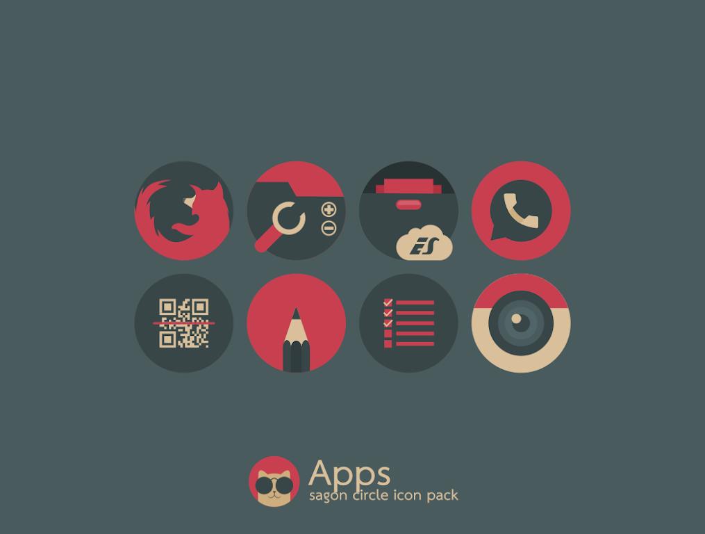Sagon Circle Icon Pack: Dark UI  poster 8