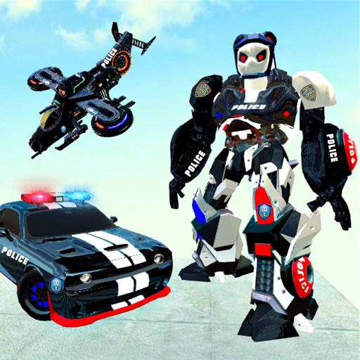 Police Panda Robot Game:Panda Robot Transformation