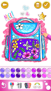 Glitter dress coloring and drawing book for Kids 2