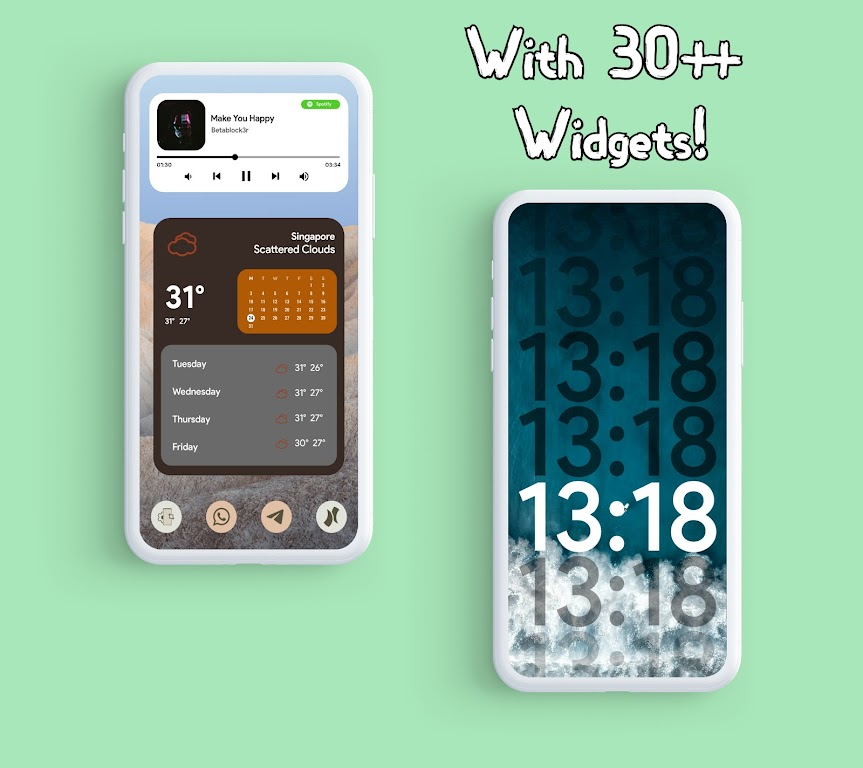 Android 12 Widgets KWGT  poster 19