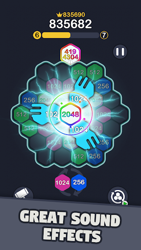 2048 Hexagon Puzzle screenshots 2