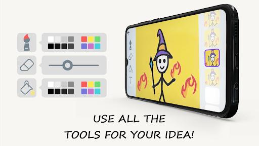 Stickman: draw animation, creator & maker, drawing apktram screenshots 7
