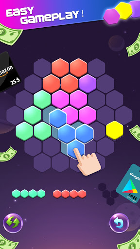 Lucky Hexa! u2013 Hexa Puzzle & Block Puzzle Big Win apkpoly screenshots 1