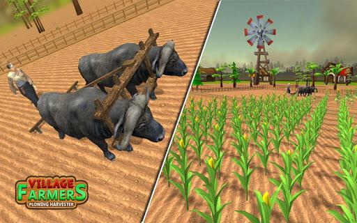 Village Plow bull Farming  screenshots 7