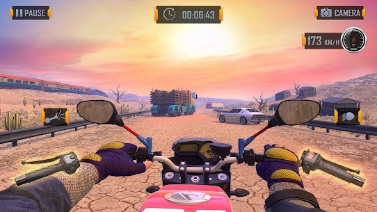 Bedava motor Trafik Binici  otoyol Sürme Oyunlar Apk 2021 1