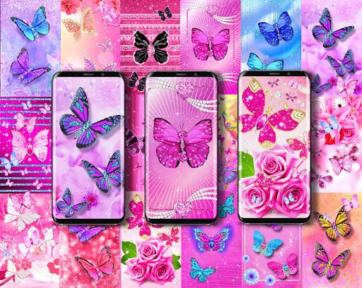 Diamond butterfly pink live wallpaper apktram screenshots 1