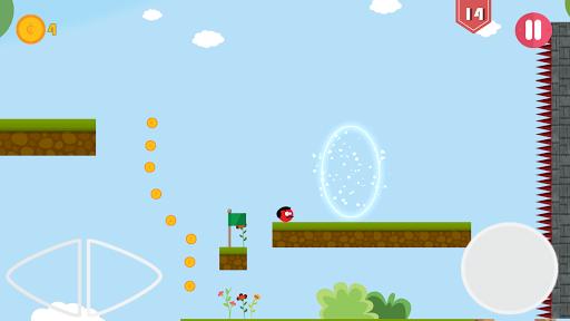 Super Red Jump Ball Mr Mustache 2.3 screenshots 5
