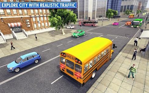 Free City School Bus Simulator 2019  Free driving 1