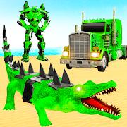 Crocodile Robot Car Transforming Mega Robot Games
