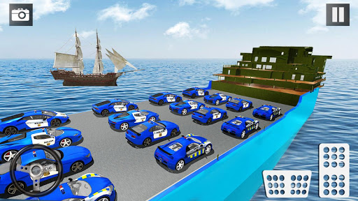 Police Car Transporter 3d: City Truck Driving Game 3.0 screenshots 14