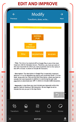 PDF Scanner - Scan documents, photos, ID, passport apktram screenshots 17