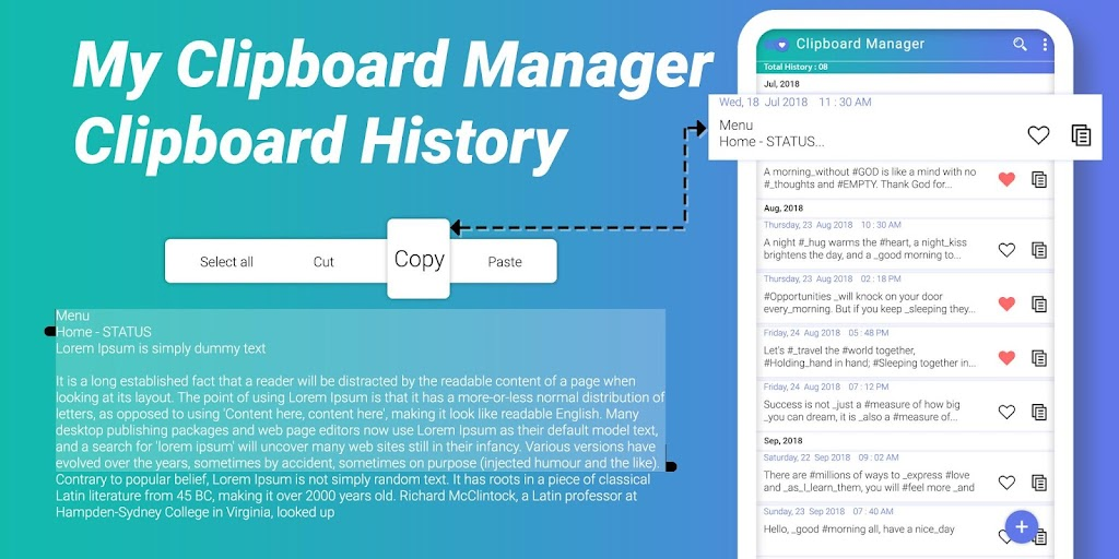 My Clipboard Manager - Clipboard History  poster 0