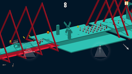 Bowling-basket roller tour Screenshot