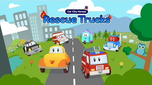 Car City Heroes: Rescue Trucks Preschool Adventure  screenshots 1