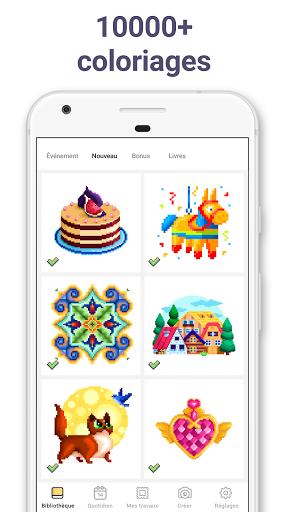 Pixel Art : Jeux de coloriage par numéros apk mod screenshots 2
